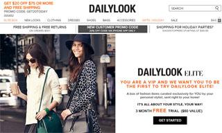Dailylook Website Snapshot