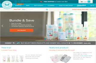 The Honest Company - Website Snapshot
