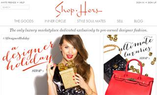 Shop-Hers Website Snapshot