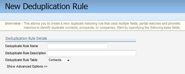 Configure Deduplication Rule